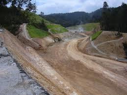 Pembinaan jalan raya di kawasan tanah tinggi menyebabkan pokok