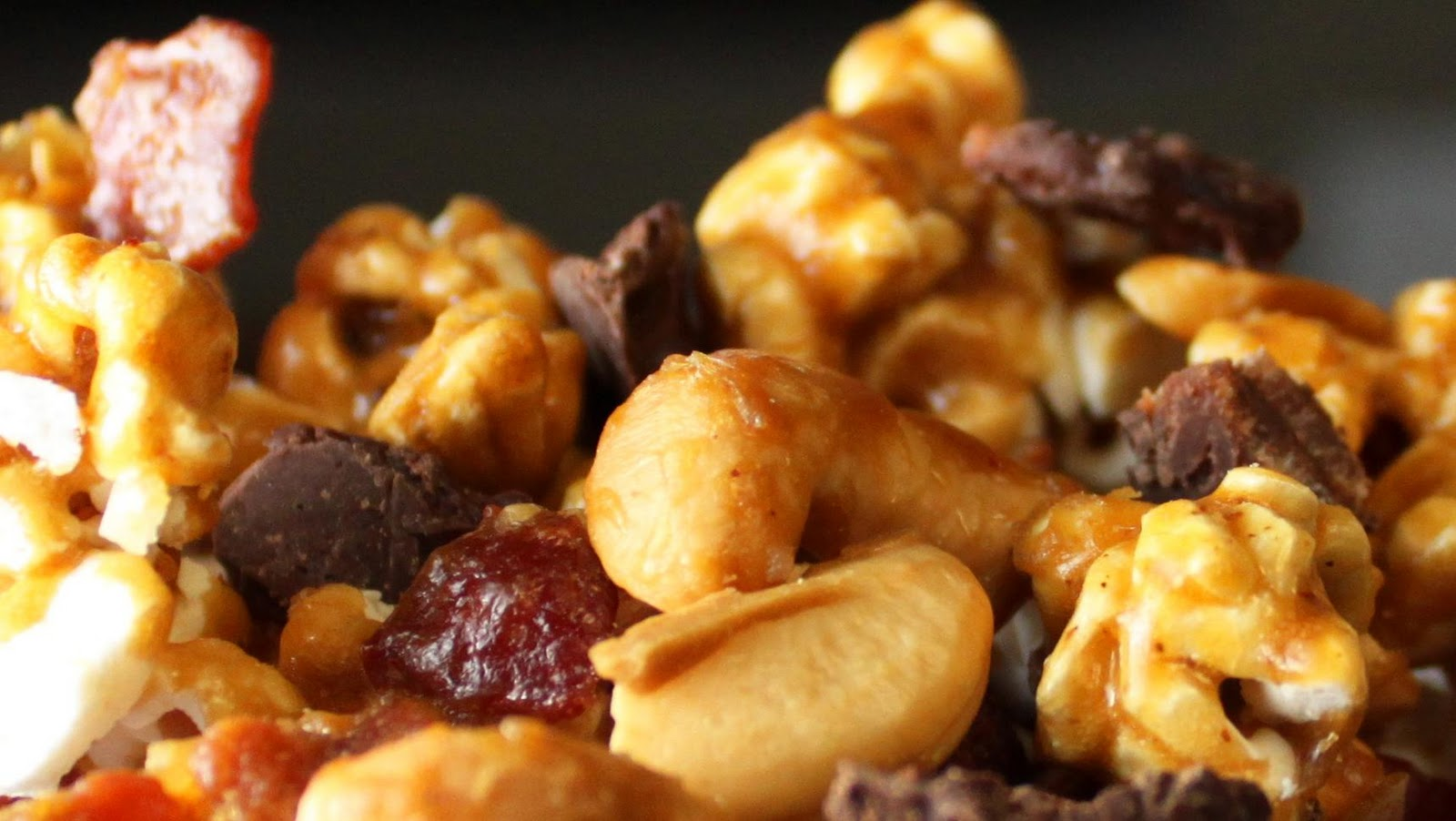 six cups popcorn, popped (see below for popcorn recipe)