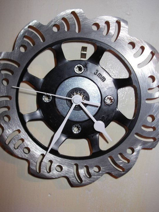 Upcycled Brake Disc Clocks