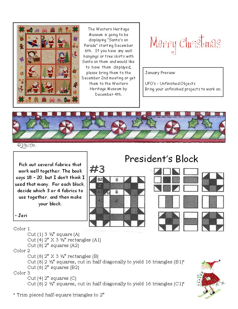 Quilt Guild Newsletter Ideas : Quilters On The Edge Quilt Guild: December 2010 Newsletter