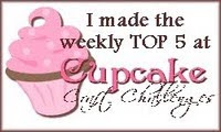 WOOHOO I made it to TOP5 over at Cupcake Craft Challenge
