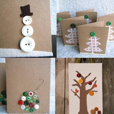 Tarjetas decoradas con botones