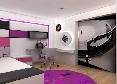 Decoracion de dormitorios juveniles diseno de interiores for Diseno de interiores cuartos