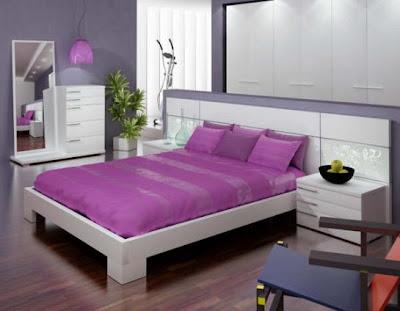 Decorar dormitorios en tonos lila morado purpura y for Paredes moradas decoradas