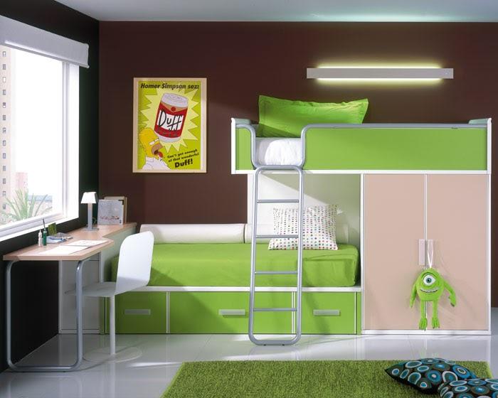 Camas altas literas para dormitorios deco ideas - Literas con escritorio debajo ...