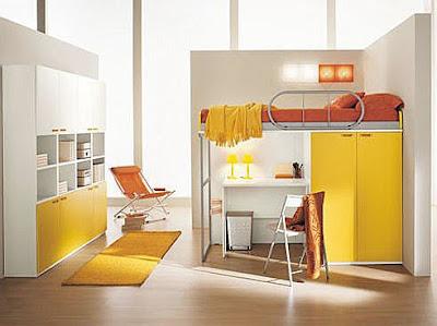 Kids 39 s bedrooms kids bedrooms cama alta decoration - Dormitorios con escritorio ...