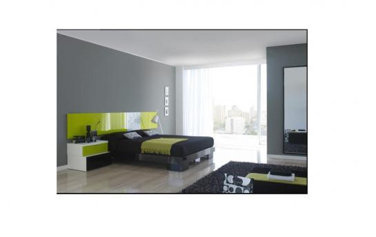 Dormitorio moderno con toque de color verde olivo - Decoracion de dormitorios modernos ...