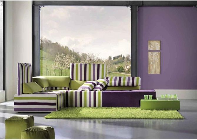 Salas modernas con muebles coloridos home design architectur for Decoracion living moderno