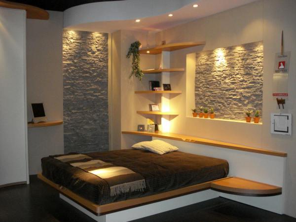 Decoracion de dormitorio acogedor que inspira calidez for Dormitorio granate