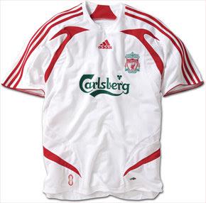 La mejor remera de sus respectivos equipos. Liverpool+Away+Shirt