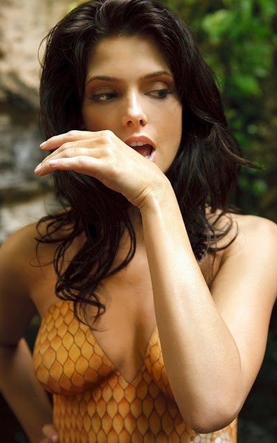 Ashley Greene in body paint