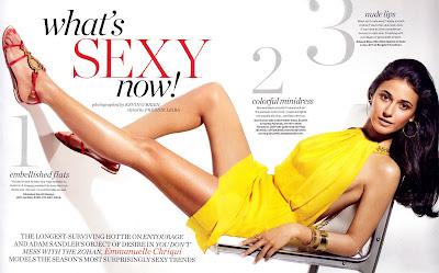 Emanuelle Chriqui InStyle Magazine