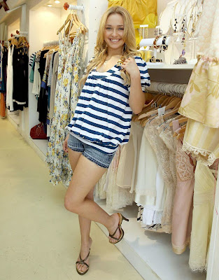 Hayden Panettiere in shorts