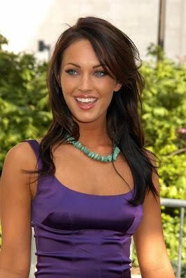 Megan Fox is sexy even in a purple dress