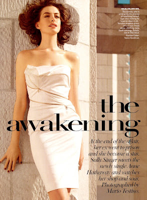 Anne Hathaway in Vogue