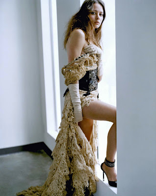 Amy Acker in frilly underwear