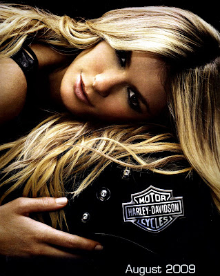 Marisa Miller on a Harley
