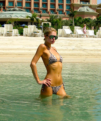 Paris Hilton in a bikini