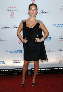 Bar Refaeli in a sexy black dress