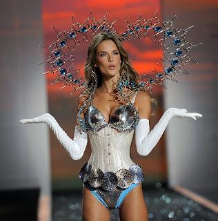 Alessandra Ambrosio models lingerie at the Victorias Secret Fashion Show