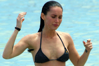 Megan Fox in a black bikini
