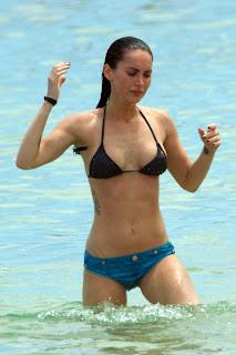 Megan Fox in a black bikini