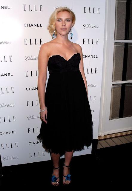 Scarlett Johansson in a sexy black dress