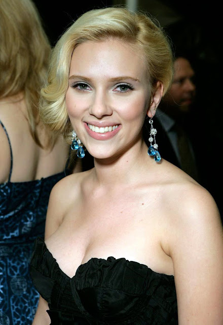 Scarlett Johansson in a sexy black dress