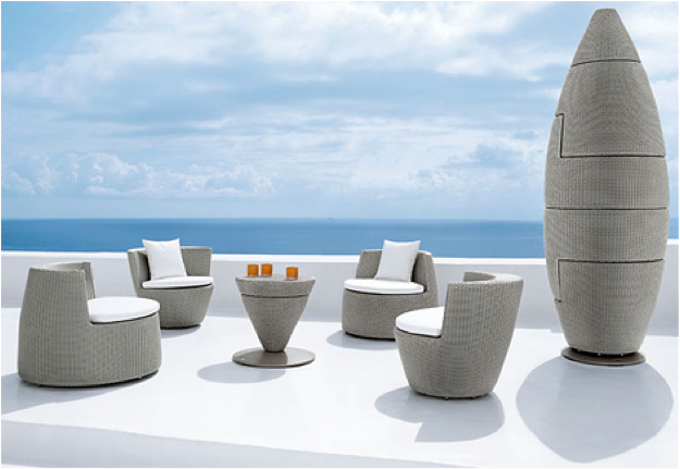 Celebrity hollywood cool fendi furniture collection for Dedon outdoor furniture