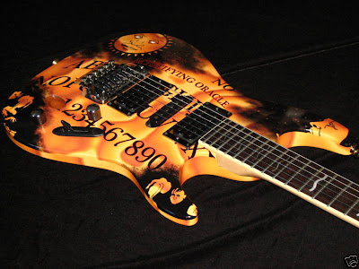 Ouija board guitar skin