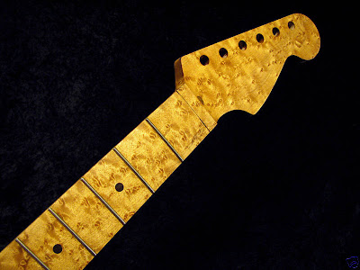 Birdseye maple Strat replacement neck