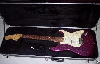 Purple Sparkle Flake Hendrix Voodoo Strat