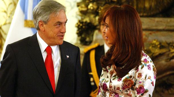 Cristina y Piñera reunidos