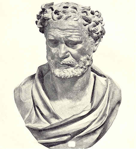 essay on democritus We begin with this essay by historian tess bundy as 23 hours  plutarch  proceeds then to the example of democritus' paradox of the cone's.