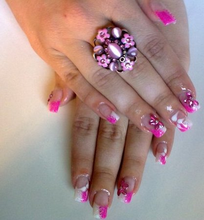 Nail Art Designs, Flower Nail Art Designs, Cute Nail Art