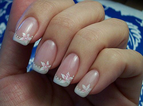 Modern Flower Nail Art Design-1