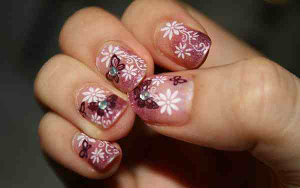 Modern Flower Nail Art Design-2