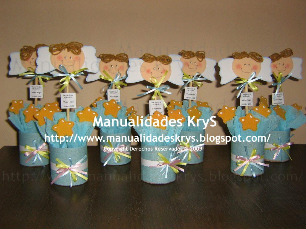 Manualidades krys centros de mesa para bautizo for Mesa para manualidades