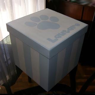 Decoraci n para beb s caja de madera pintadas a mano - Cajas de carton decoradas para bebes ...