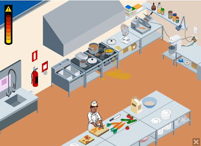 hazard health in kitchen saf