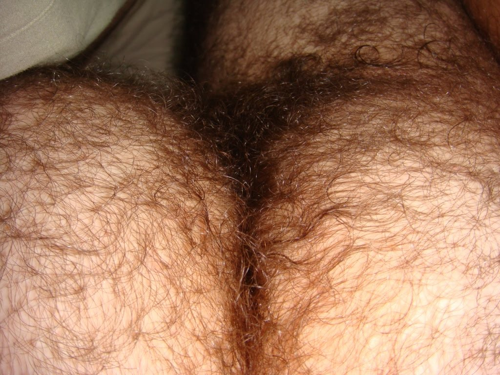 Men hairy butt crack