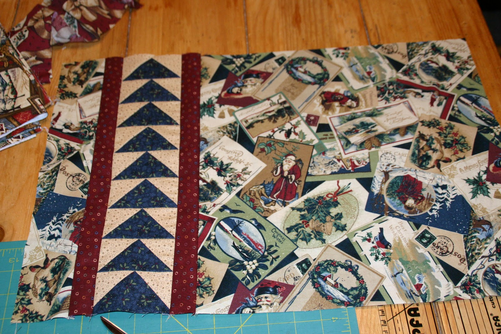 Sewn wild oaks quilting blog christmas placemats im very old fashioned when it comes to traditional christmas fabric ive had this thimbleberries fabric for years and now im using it all up in placemats solutioingenieria Choice Image
