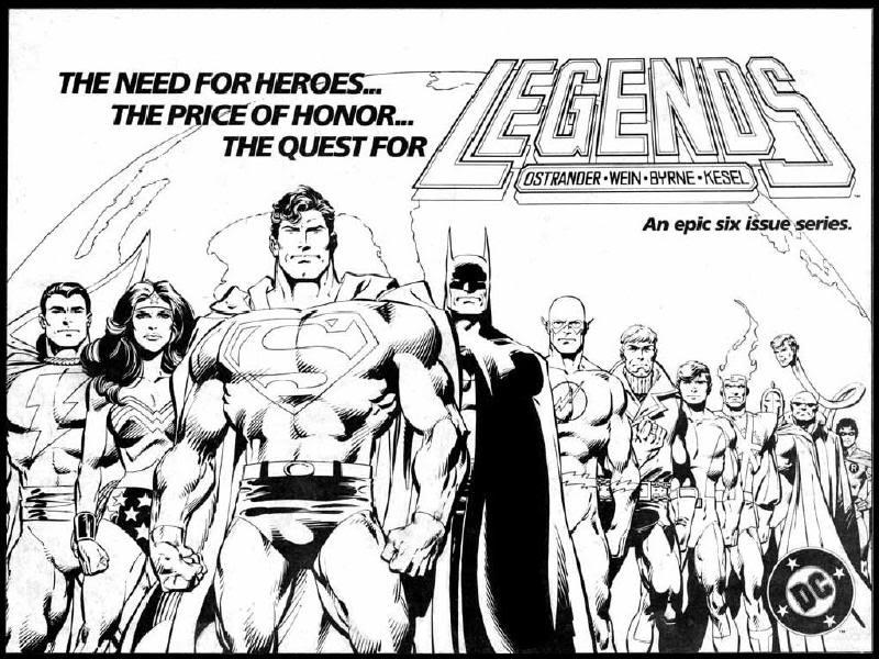 John Byrne y su concepción de Superman 1986DCComicsLegendsPromotionalAd