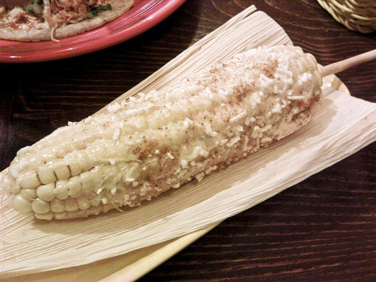 Grilled Mexican corn on the cob