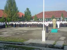 Upacara Bendera SMP Negeri 1 Kersana