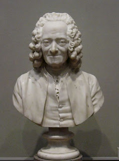 Bust of Voltaire from  Wikipedia