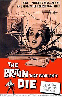 Brain That Wouldn't Die film poster Wikipedia top horror films reviewed reviews review