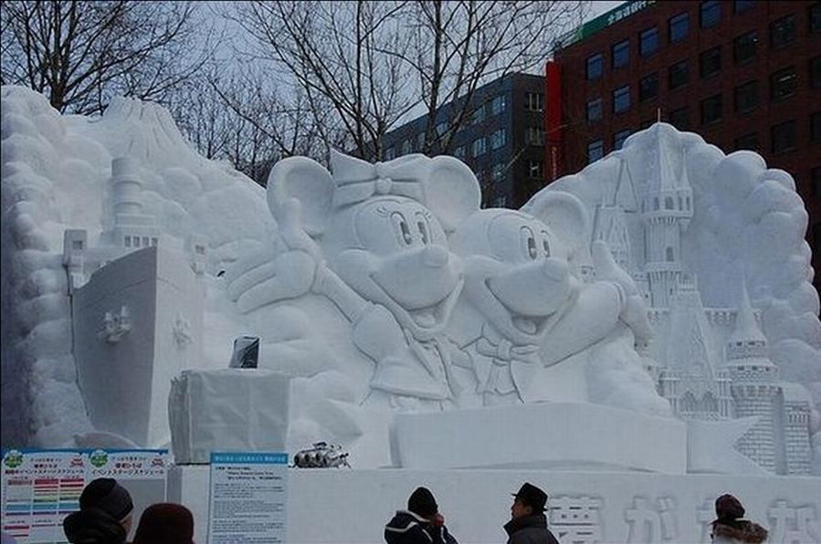animal snow sculptures - photo #36