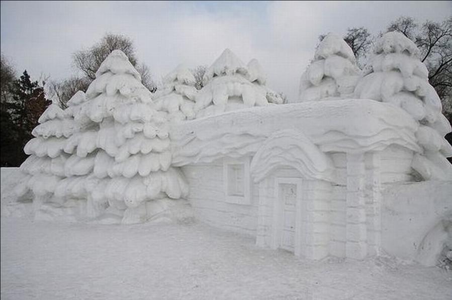 animal snow sculptures - photo #38
