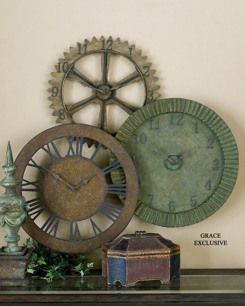 Expressions Of Time Clockshops Decorative Wall Clock Collage